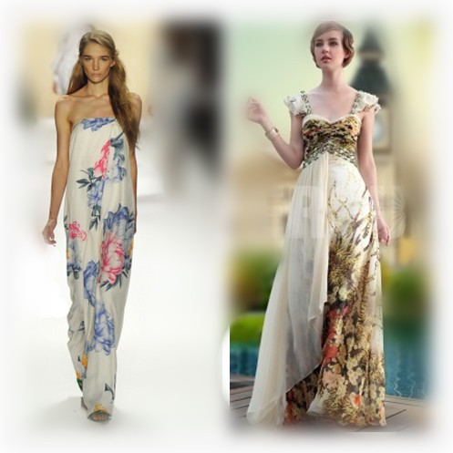 8471a9c6b89b Vestiti da cerimonia lunghi a fiori – Vestiti da cerimonia